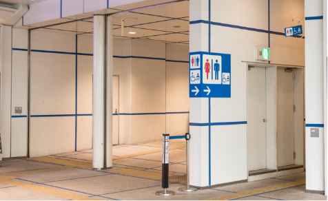 Barrier-free restrooms (including support for ostomates)